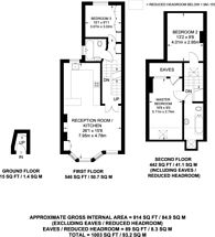 Large floorplan for Garfield Road, Clapham Common North Side, SW11