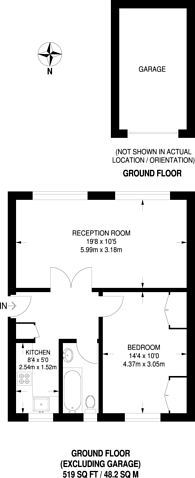 Large floorplan for Pullman Court, Streatham Hill, SW2