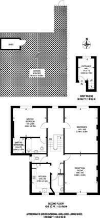 Large floorplan for Thurlow Park Road, West Dulwich, SE21