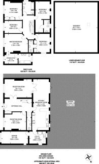 Large floorplan for Foxgrove Avenue, Beckenham, BR3