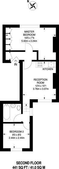 Large floorplan for Old Kent Road, Peckham, SE15