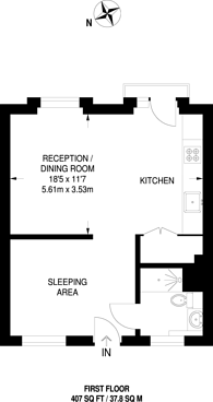 Large floorplan for The Ladbroke Grove, Ladbroke Grove, W10