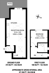 Large floorplan for Cricklewood Broadway, Cricklewood, NW2