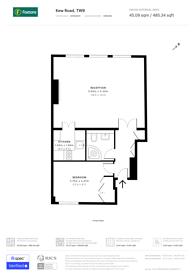 Large floorplan for Kew Road, Richmond, TW9