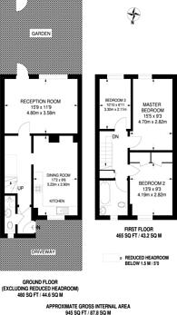 Large floorplan for Arnold Road, Northolt, UB5
