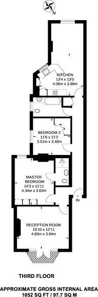 Large floorplan for Morshead Road, Maida Vale, W9