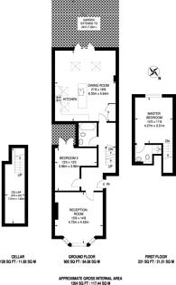 Large floorplan for Carminia Road, Heaver Estate, SW17