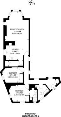 Large floorplan for Chalfont Court, Marylebone, NW1
