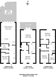 Large floorplan for Holford Way, Roehampton, SW15