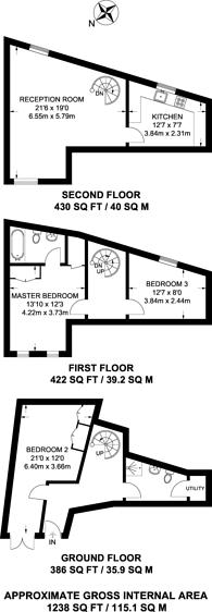 Large floorplan for Grange Yard, Bermondsey, SE1