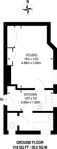 Large floorplan for Becmead Avenue, Streatham, SW16