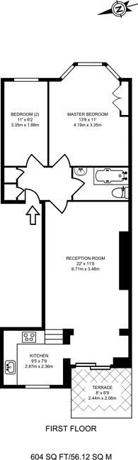 Large floorplan for Caledonian Road, Caledonian Road, N7