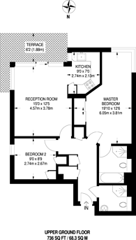 Large floorplan for Upper Richmond Road, East Putney, SW15
