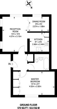 Large floorplan for Honor Oak Road, Forest Hill, SE23