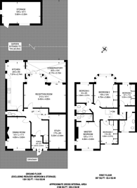 Large floorplan for Sudbury Court Drive, Harrow, HA1