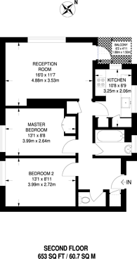 Large floorplan for Cortis Road, Putney, SW15