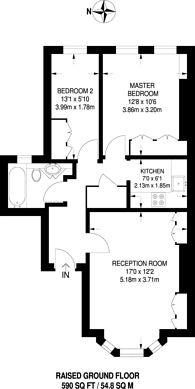 Large floorplan for West Hill Road, Southfields, SW18