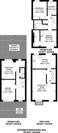 Large floorplan for Highgrove Close, Friern Barnet, N11