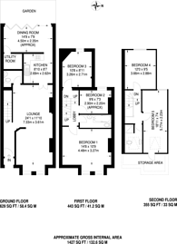 Large floorplan for Laburnum Road, Wimbledon, SW19