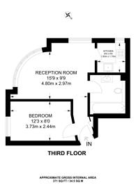 Large floorplan for Chelsea Cloisters, Chelsea, SW3