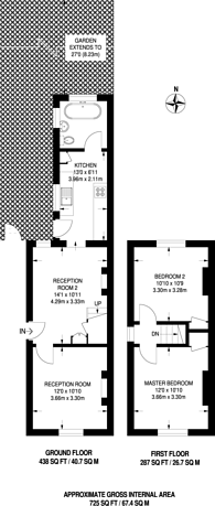 Large floorplan for Kingsfield Road, Harrow on the Hill, HA1