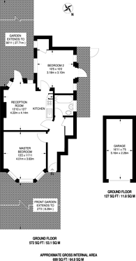 Large floorplan for Aboyne Drive, New Malden, SW20