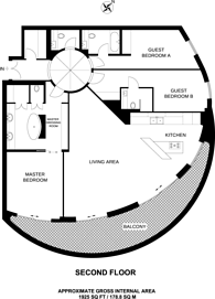 Large floorplan for Riverwalk, Pimlico, SW1P