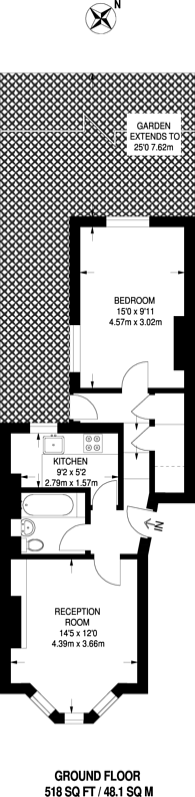 Large floorplan for Kellett Road, Brixton, SW2
