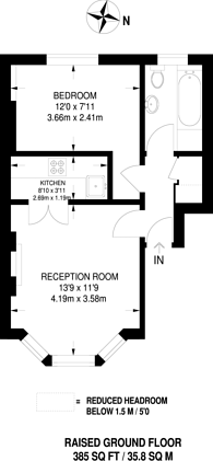 Large floorplan for Bloom Park Road, Parsons Green, SW6