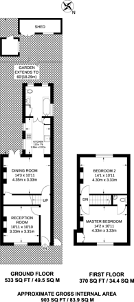 Large floorplan for Beulah Road, Walthamstow Village, E17