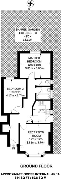 Large floorplan for Fernham Road, Thornton Heath, CR7