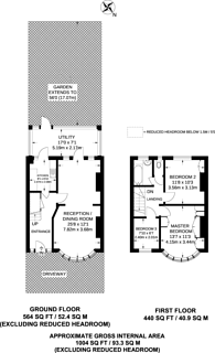 Large floorplan for Woodside Avenue, Alperton, HA0