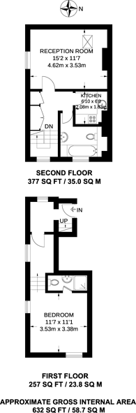 Large floorplan for Clifton Road, South Norwood, SE25
