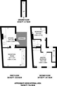 Large floorplan for Fane Street, West Kensington, W14