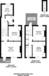 Large floorplan for Waldemar Avenue, Parsons Green, SW6