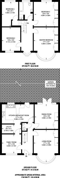 Large floorplan for Lavender Hill, The Ridgeway, EN2