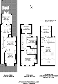 Large floorplan for Southcroft Road, Tooting, SW17