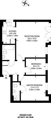 Large floorplan for Belvedere Place, Brixton, SW2