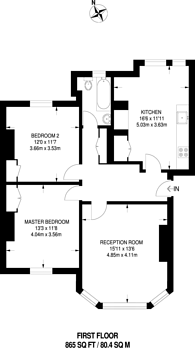 Large floorplan for Castelnau Gardens, Barnes, SW13
