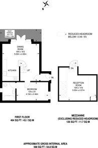 Large floorplan for Dryden Close, Clapham, SW4