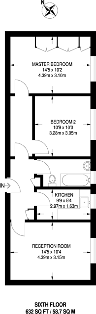 Large floorplan for West Kensington, West Kensington, W14