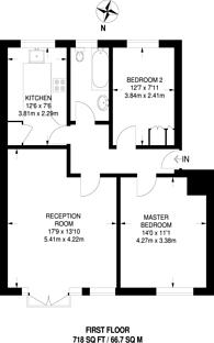 Large floorplan for Ockenden Close, Woking, GU22