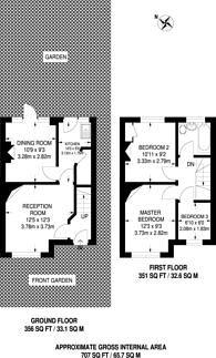 Large floorplan for Clewer Crescent, Harrow Weald, HA3