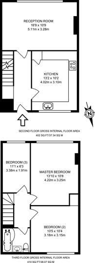 Large floorplan for East Crescent, Friern Barnet, N11