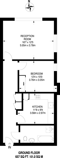 Large floorplan for Heathcroft, Ealing, W5