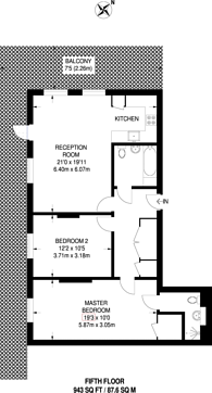 Large floorplan for Malthouse Court, Brentford, TW8