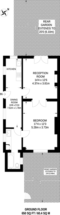 Large floorplan for St Augustines Road, Camden Town, NW1