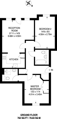 Large floorplan for Chandler Way, Peckham, SE15