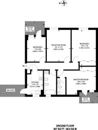 Large floorplan for Hanger Lane, Ealing, W5