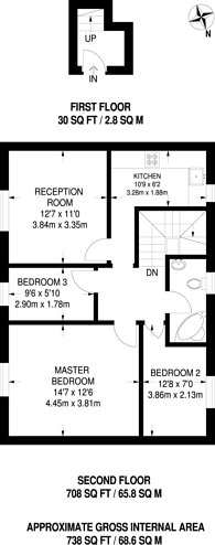 Large floorplan for Lordship Lane, East Dulwich, SE22